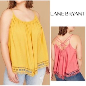 Lane Bryant Sunburst Yellow Blouse 1X